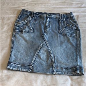 Lane Bryant Retro Acid Washed Denim Skirt 18